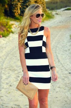 Classy. Love the stripes and gold accents.