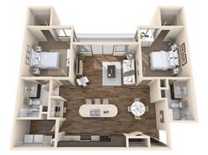 3d floor plan apartment - Buscar con Google