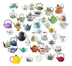 """""""Tea Kettles"""" by mysfytdesigns ❤ liked on Polyvore featuring interior, interiors, interior design, home, home decor, interior decorating, Kate Spade, MacKenzie-Childs, Missoni Home and Price & Kensington"""