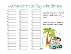FREE Summer Reading Charts | Kids Reading Over the Summer | Kids Read