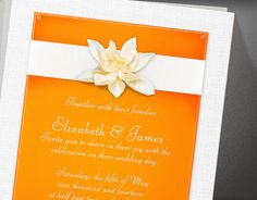 Orange Wedding Invitations by InvitationSnob