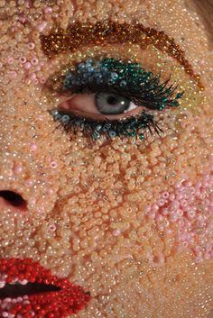 Illamasqua beaded face