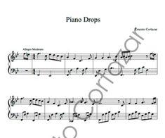 Piano Drops Sheet Music - Ernesto Cortazar