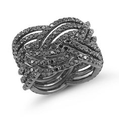 Jessica Sara Braided black diamond band