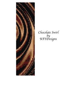 Peyote Pattern Chocolate Swirl Buy 2 Patterns get a 3rd. Pattern FREE by KFSDesigns, $6.50