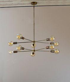 "Marico Nautical Collection Industrial 2 Tiered Sputnik Chandelier / Hanging Light / Pendant Ceiling Light 29"" D X 29"" D X 33"" Height Nickel Chrome Marico Nautical Collection http://www.amazon.com/dp/B013YHOP1K/ref=cm_sw_r_pi_dp_YMcgwb1V7Q6WT"