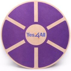 Yes4All Wooden Wobble Balance Board – Exercise Balance Trainer (15.75-inch Diameter), Purple