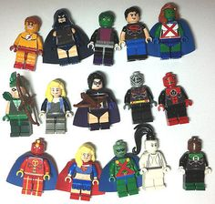 Lot of 15 Custom Lego Minifigures DC Marvel Super Heroes Martian Kid Flash Arrow | eBay