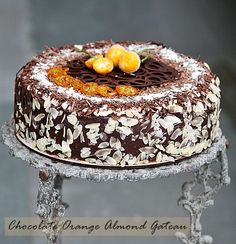chocolate orange almond cake. i wouldn't mind making this for my birthday....