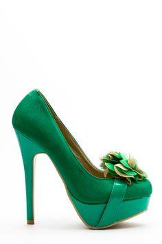 Embellished Flower Hi-Heel Shoes