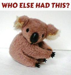 Koala souvenir clip on toy_ cute! 1980s Childhood, My Childhood Memories, Sweet Memories, Retro Toys, Vintage Toys 80s, Vintage Avon, Vintage Clip, My Memory, Old Toys