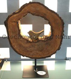 Skulpturen - Holzskulptur aus einer Birkenholz - Scheibe, groß! - ein Designerstück von GeschenkeundMehr bei DaWanda