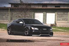 """Darth Vadar's new whip....Modified Audi S5 bagged with Vossen CV3 wheels.....""""I AM YOUR FATHER""""!!!!"""