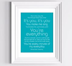 YOUR Custom Song Lyrics Print Valentines Gift by TheMemoryGallery, $24.00