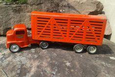 Vintage 1949-52 Tonka Livestock Semi Truck and Trailer Pressed Steel (original) | Toys & Hobbies, Diecast & Toy Vehicles, Cars, Trucks & Vans | eBay!