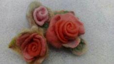 """touch of rainbow"" Felting, Unique Gifts, Rainbow, Brooch, Rings, Floral, Flowers, Jewelry, Original Gifts"