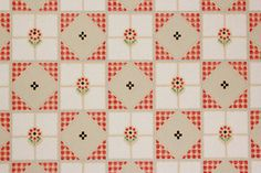 Items similar to Vintage Wallpaper Red and Black Floral Gingham Geometric by the Yard on Etsy Wallpaper Crafts, Eagle Wallpaper, Original Wallpaper, Color Box, Design Tutorials, Dollhouse Miniatures, 1930s, Gingham, Pattern Design