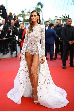"Izabel Goulart – ""Sink or Swim"" Red Carpet at the Cannes Film Festival Sink Or Swim, Izabel Goulart, Boho Romper, Cannes, Red Carpet, Swimming, Rompers, Legs, Formal Dresses"