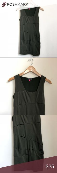 """[Vince Camuto] Olive Bodycon Dress Size 6P Soft to the touch, and flattering shape bodycon dress by Vince Camuto.   79% rayon  26% nylon  5% spandex   Measurements  Bust 16""""  Length 32"""" Vince Camuto Dresses"""