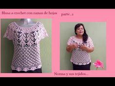 Blusa a crochet rama de hojitas (parte 1) - YouTube