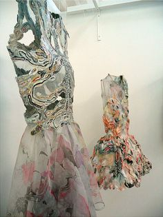 Marit Fujiwara's Hair fabrics and dress fabric. They are on the Behance site and Flikr. See Blogroll. | Decanted