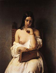 Francesco Hayez, Meditation, Oil on canvas, 1850