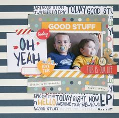 I created this layout for Simple Stories using the Life Documented collection which should have just arrived at your scrappy spots by now. Baby Scrapbook Pages, Project Life Scrapbook, Kids Scrapbook, Disney Scrapbook, Scrapbooking Layouts, Scrapbook Cards, Digital Scrapbooking, Paper Tape, Simple Stories