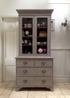 Antique Victorian Painted Country Glazed Bookcase on Chest Dresser Kitchen Unit Chest Dresser, Chest Of Drawers, Kitchen Cabinets Units, Pine Shelves, Pine Chests, Annie Sloan Paints, Drawer Handles, Font Styles, Glaze