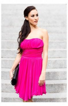 Robe de cocktail bd magenta