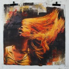 Inertia Creeps, 2012, Snik, Stencil/spraypaint on cardboard POA