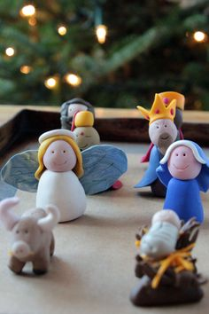 Fimo nativity - I made one of these - a little different than this one.