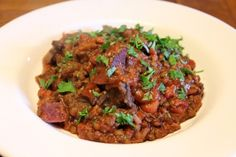 Rustic French Style Beef Cheek & Lentil Stew with Beetroot