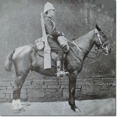 Fantastic shot of a British cavalryman during the Zulu Wars 1879