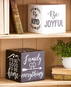This Tabletop Sentiment Cube is inscribed with 6 different heartwarming sentiments. Just turn the cube over to change which sentiment is shown. Wood Projects, Projects To Try, Ltd Commodities, Home Catalogue, Lakeside Collection, Dog Rooms, Family Is Everything, Forced Labor, Beautiful Day