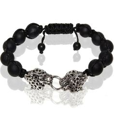 Matte Onyx Stretch Bracelet - Twin Leopard Head Leelo Jewelries. $23.99. Bead Bracelet. Leopard head size: approx. 13 mm. Bead size: 10 mm. Matte Onyx. Product code: SB0122-200200