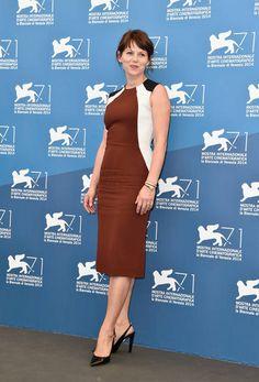 Barbora Bobulova abito colorblock - FOTO