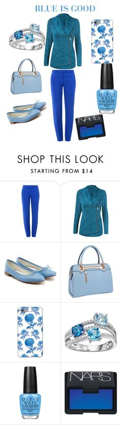 """""""Style in blue"""" by worldoftimi ❤ liked on Polyvore featuring Boutique Moschino, Repetto, Relaxfeel, Thornback & Peel, OPI and NARS Cosmetics"""