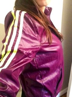 Nylons, Shiny Fabric, Adidas, Nylon Stockings, Vintage Jacket, Sportswear, Windbreaker, Street Wear, Sporty