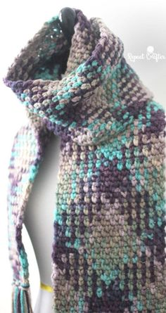 How to do Color Pooling in Crochet: Color Pooling Scarf Free Crochet Pattern