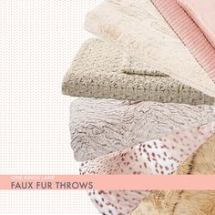 faux fur throws from one kings lane / color me caitie