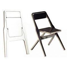 2F Folding Chair - Hannu Khnen: These are made from a single piece of birch, with minimal waste, and fold flat.