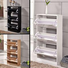 3-Colour-Wooden-Cupboard-Shoe-Cabinet-3-Doors-Footwear-Stand-Rack-Storage