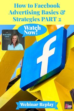 "How to Facebook Advertising Basics PART 2 #Webinar Replay:  Facebook  Advertising Tips & Strategies Before You Go Diving In…Blueprint for a Successful Facebook Campaign   Watch here!  So I hear from many people that they are bombing big time when it comes to their Facebook advertising efforts.  And to add insult to injury, Facebook seems to be constantly modifying and updating their algorithms.  That's not necessarily a bad thing!?!  How would you like a little ""how to"" basics?  Click here."