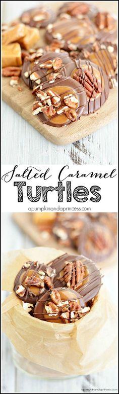 Easy Salted Carmel Turtles