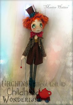 Master Hatter...Urchin Art Doll by Vicki at Lilliput Loft