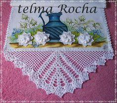 How to Crochet Wave Fan Edging Border Stitch Crochet Table Runner, Crochet Tablecloth, Crochet Doilies, Crochet Lace, Cross Stitch Borders, Crochet Borders, Crochet Patterns, Knitting Patterns, Beautiful Crochet