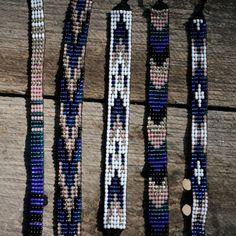 SALE // Bead Loom Friendship Bracelet Collection by MichikoJewelry Loom Bracelet Patterns, Bead Loom Bracelets, Bead Loom Patterns, Bracelets For Men, Handmade Bracelets, Beading Patterns, Seed Bead Jewelry, Beaded Jewelry, Diy Collier