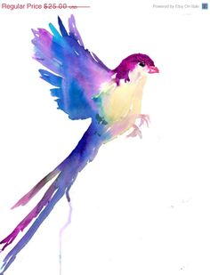 On Sale Print of Watercolor Painting Serene by ArtbyJessBuhman, $25.00