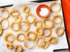 Ina's 5-star Cornmeal-Fried Onion Rings #GrillingCentral