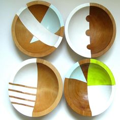 Hardwood Bowls by Nicole Porter